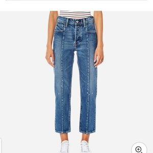 Levi's altered straight no limits crop jeans